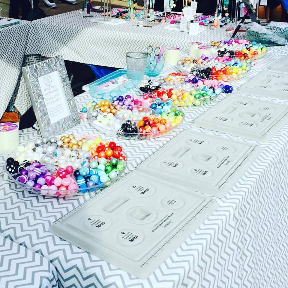Mama Beads and Baby Baubles table