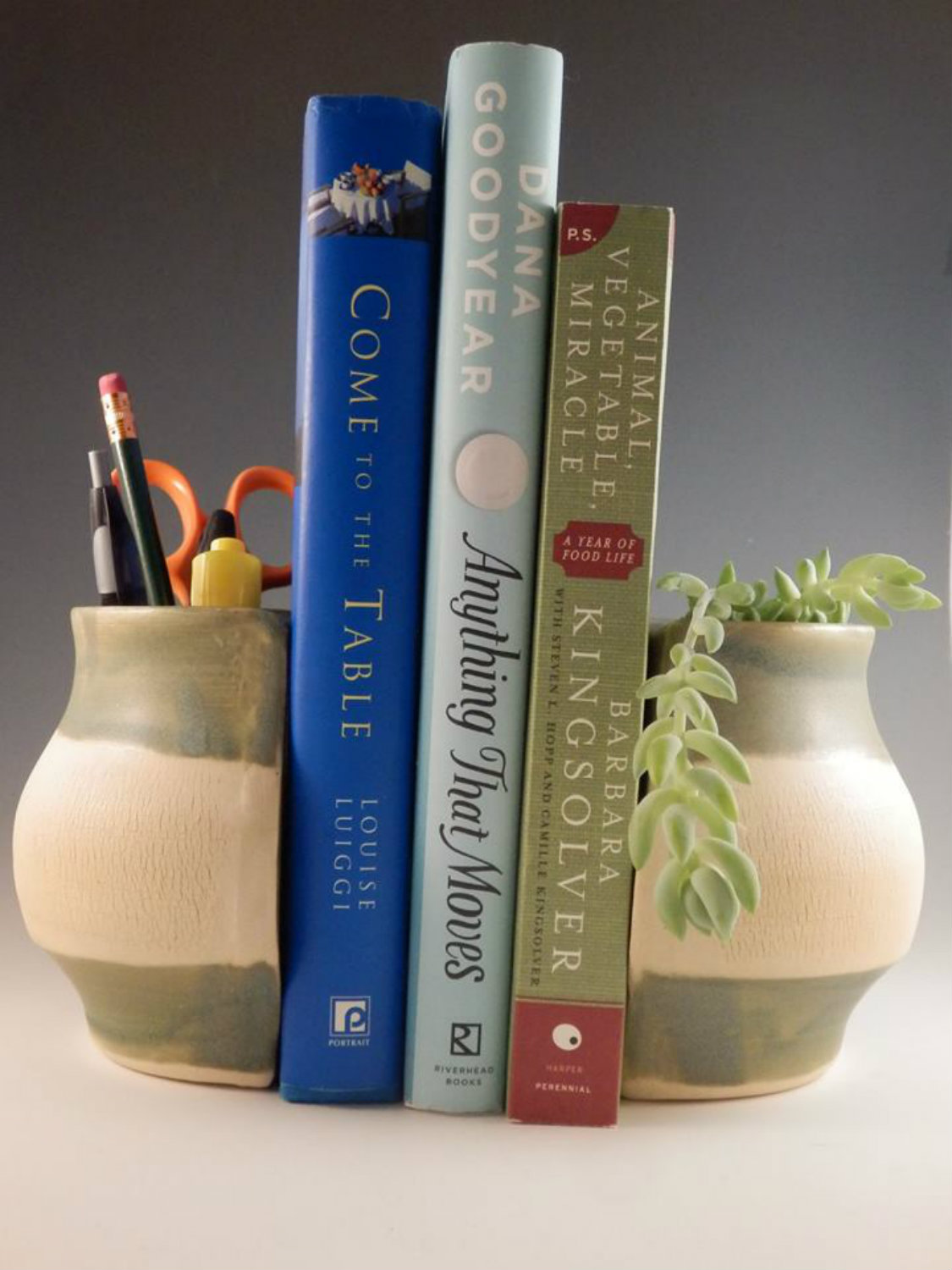 Merle Slyhoff Pottery Bookends
