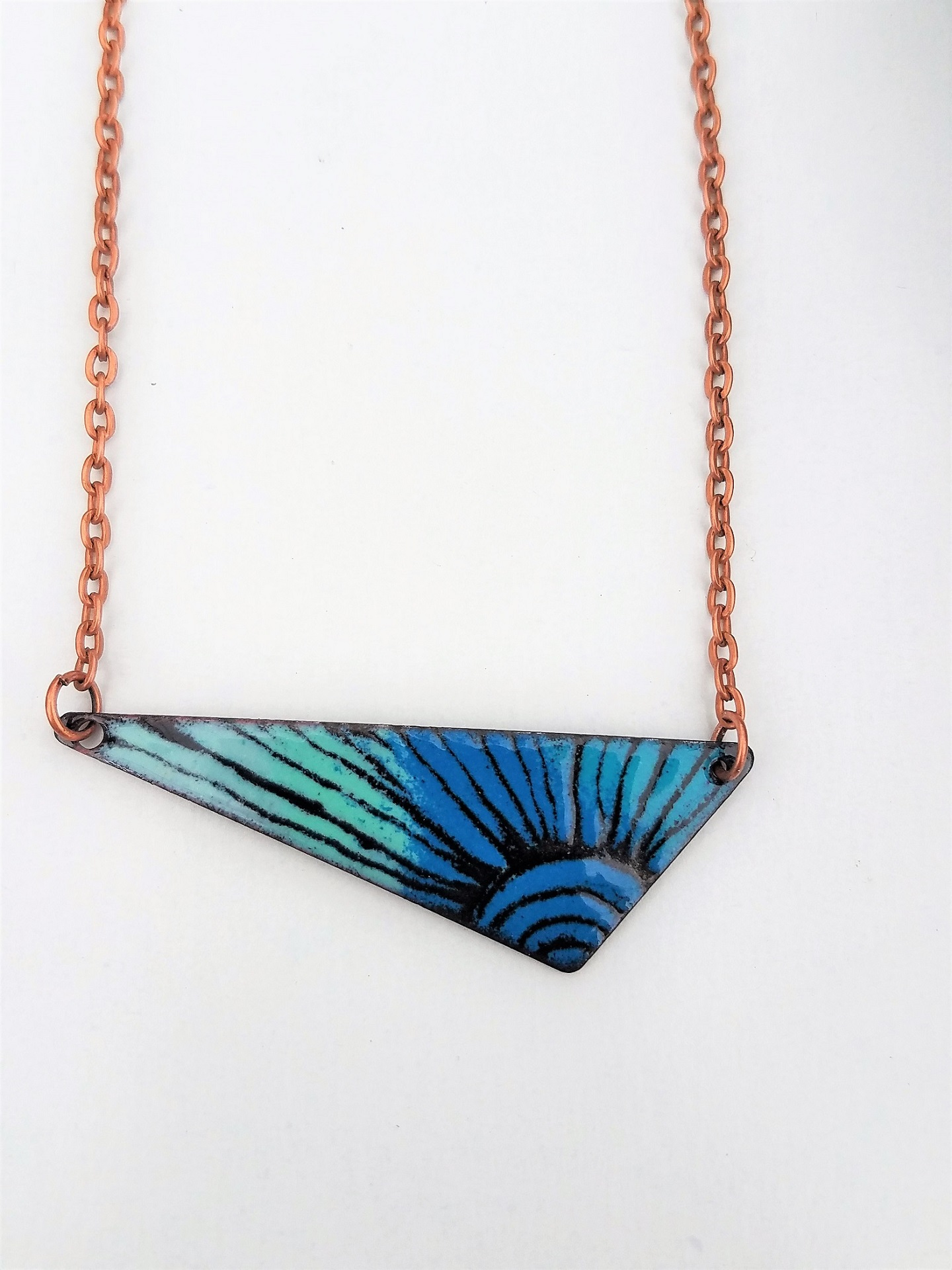222 Creations- Blue Pendent